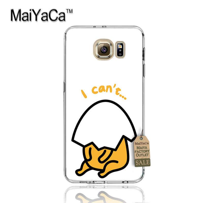 Maiyacaかわいいラブリーgudetama怠惰な卵高級ファッション携帯電話ケースサムスンs3 s4 s5 s6 S6edge S6plus s7 S7edge s8 S8plus