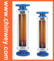 LZB 100 glass rotameter flow meter for liquid and gas. flange connection
