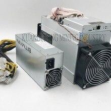 Только 80-90% 10.5Th/s AntMiner T9 два вентилятора, 10500Gh/s со старым блоком питания, экономичным, чем Antminer S9 S9i