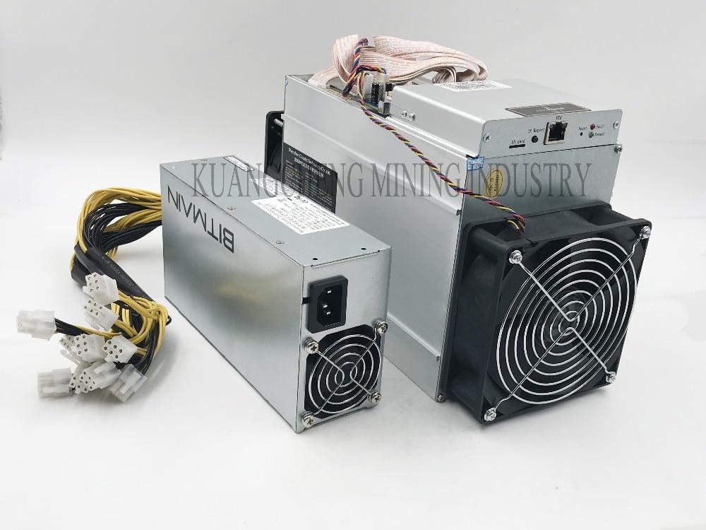 Apenas 80-90% novo 10.5Th/s AntMiner T9 dois ventilador, 10500Gh/s com o velho Fornecimento de Energia Econômico Do Que Antminer BITMAIN S9 S9i