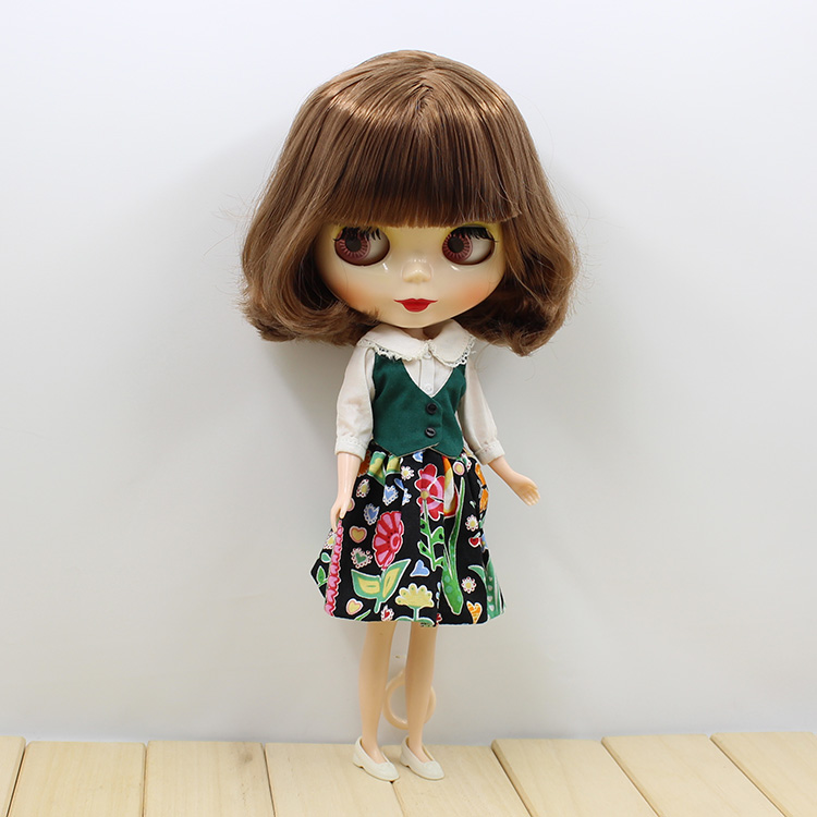 ФОТО Neo Blyth brown short hair Nude doll for girls gifts