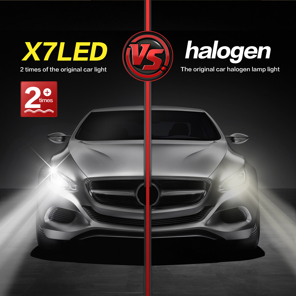 X7 High Brightness H4 Led Car Headlight Lamp 120w 9600lm High Low