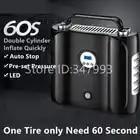 New Arrival Double Cylinder Digital car inflator 12V Electric Car Air Compressor Pump LED Light Digital Inflatable Pump