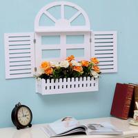 Creativity of Dairy Tea Shop in Living Room with Decorative Window and Fake Window Decorative Shelves LM01181056