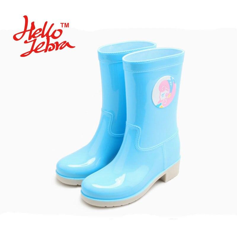 Hellozebra Women Fashion Rain Boots Ladies Animal Prints Rubber Flat Heels Waterproof Charm Rainboots 2018 New Fashion Design hellozebra women rain boots lady low heels solid plain elatic waterproof welly buckle nubuck rainboots 2016 new fashion design