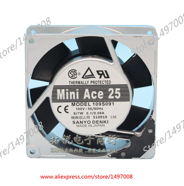 Free Shipping For Sanyo  109S091  AC 100V 8W/7W, 2-pin 92x92x25mm Server Square fan free shipping for adda aa8382hb aw s ac 220 240v 0 07 0 06a 2 pin 80x80x38mm server square fan free shipping