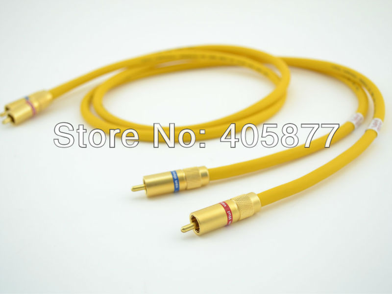 PAIR viborg audio The D -102 III HYBRID (Halogen F) Audio Cable 1M