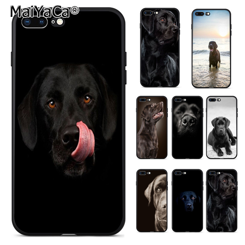 MaiYaCa Black Lab Labrador puppy Dog Coque Shell Phone Case for iphone 11 Pro 8 7
