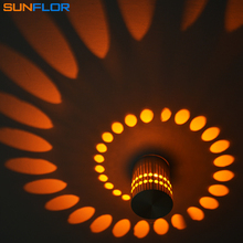 Indoor LED Sconce 3W Dots Projection LED Wall Lamp Surface Mounting Aluminum Wall Light Colorful Lighting