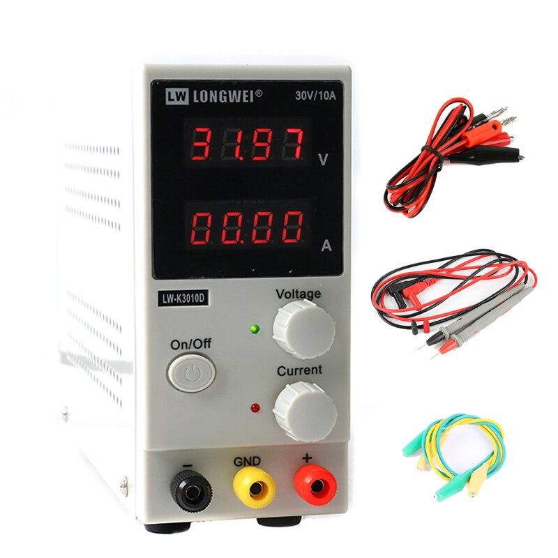 LW3010D DC alimentation 30 V 10A Mini réglable numérique DC alimentation commutation 0.01 V/0.001A 4 chiffres outil de réparation de laboratoire