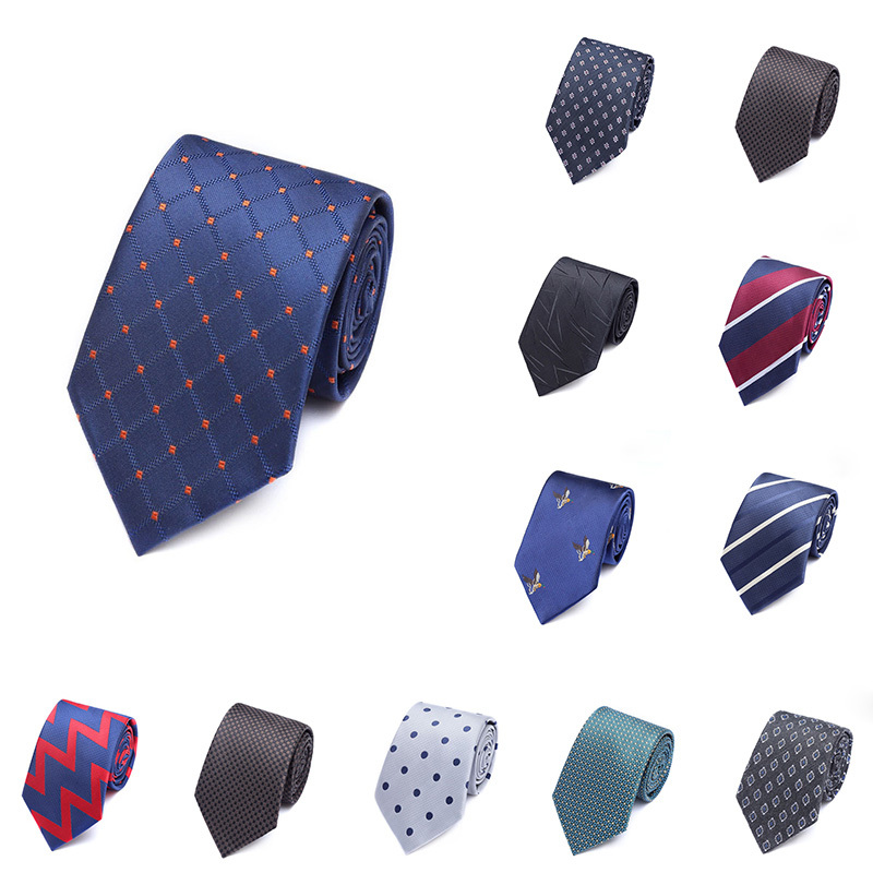 2019 New 31 Colors Mans Tie Formal Dress Striped Neck Tie 1200 Needle Jacquard Wedding Party The Best Man Groom Gifts Ties