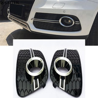 Q5 RSQ5 fog lamp grille Black ABS Car Front Grill Grille for Audi Q5 SQ5 S line RSQ5 Front bumper 2012 2015