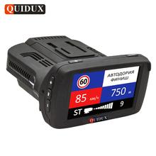 Quidux русский Full HD 1296 P Видеорегистраторы для автомобилей GPS анти Антирадары ADAS сигнализации регистраторы 3 в 1 автомобиль SpeedCam Камера превышение скорости,