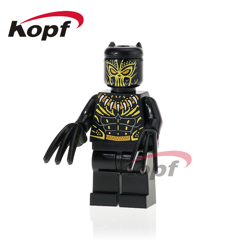 Single Sale Erik Killmonger Black Panther Super Heroes Harley Quinn Bane Bricks Action Building Blocks Children Gift Toys XH 800 single sale building blocks super heroes bob ross american painter the joy of painting bricks education toys children gift kf982