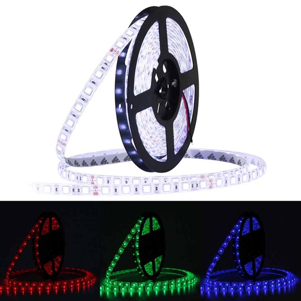 Led Lighting Modest Jiawen Led Strip Dc12v 60leds/m 5m/lot Flexible Led Light Cool White Rgb Rgbw 5050 Led Light Strip Lights & Lighting