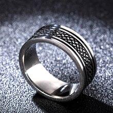 Горячая фильм тибетские кольца рыбы чешуя кольцо Титан Нержавеющая сталь золотое кольцо 8 мм для мужчин подарки