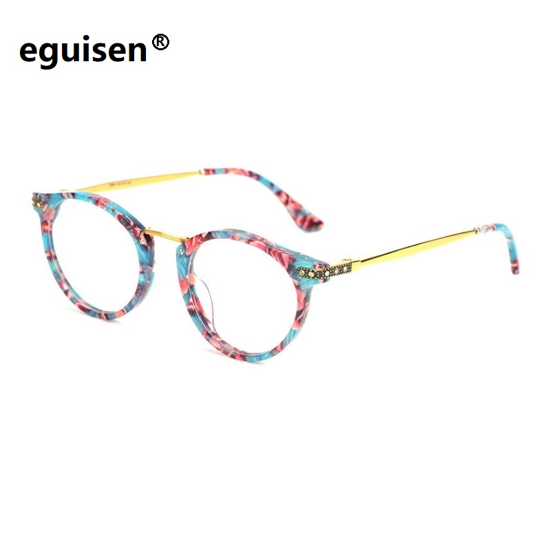 Width 128 Ultra light sheet alloy full frame women eyewear frame female protection eyeglasses frame oculos