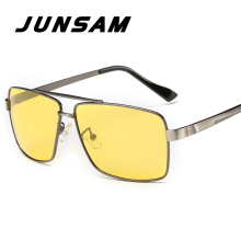 JUNSAM Classic Yellow Lens Men Polarized Driving Night Vision Sunglasses Fashion Luxury Design Ladies Sun Glasses Oculos JSW8712