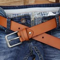 CATELLES MEN'S LEATHER BELT FOR JEANS EXTRA LENGTH 150cm