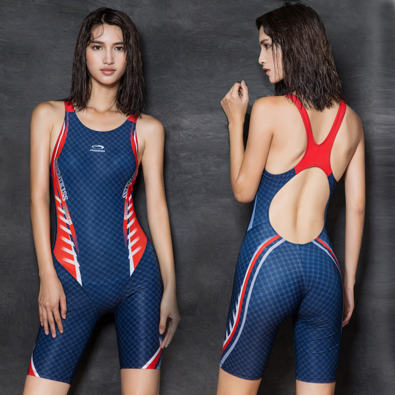 2017 sexy one piece women swimwear plus size long pants swimsuit nylon high quality blue bathing suit maillot de bain femme