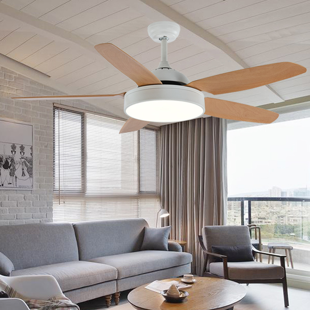 52 אינץ נורדי בציר 5 להבי מאוורר תקרה עם אורות מרחוק בקרת Ventilador דה Techo מאוורר LED אור תקרת חדר שינה אוהדי