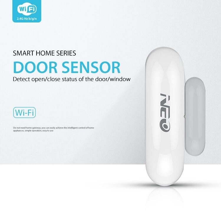 NEO NAS-DS01W WiFi Smart Porte Capteur/Fenêtre Capteur Domotique Système D'alarme Alarme de Mouvement, Pas Cher Hub Nécessaire