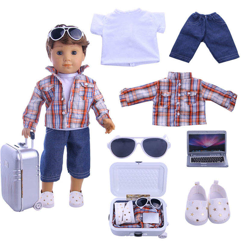 Fashion suits fit for  18inch Logan Doll Boy Doll American girl, Children the best Christmas gift