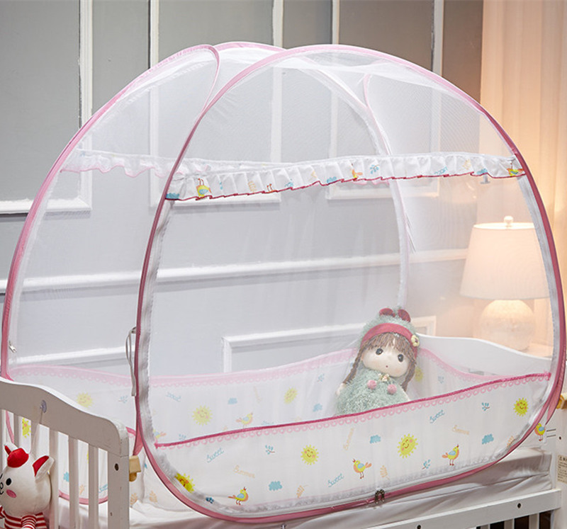 """Portable Baby Travel Bed Canopy Crib Shades Mosquito Net Sleeping Tent/""""43/""""24/""""15/"""""""