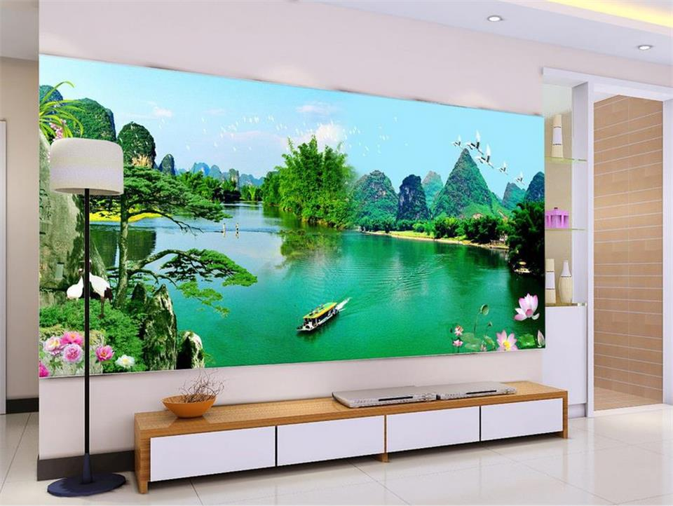 3d wallpaper custom photo non-woven mural wall sticker Landscape scenery decoration painting 3d murals wallpaper for walls 3 d 3d room wallpaper custom mural non woven wall sticker golden vase green pink flower painting photo murals wallpaper for walls 3d