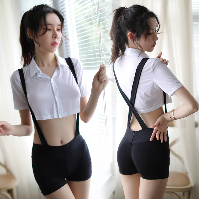 Exotic Student Uniform Costume Sexy High Waist for Women Sexy Lingerie School Student Mini Dress Exotic Costume Beautiful Lady