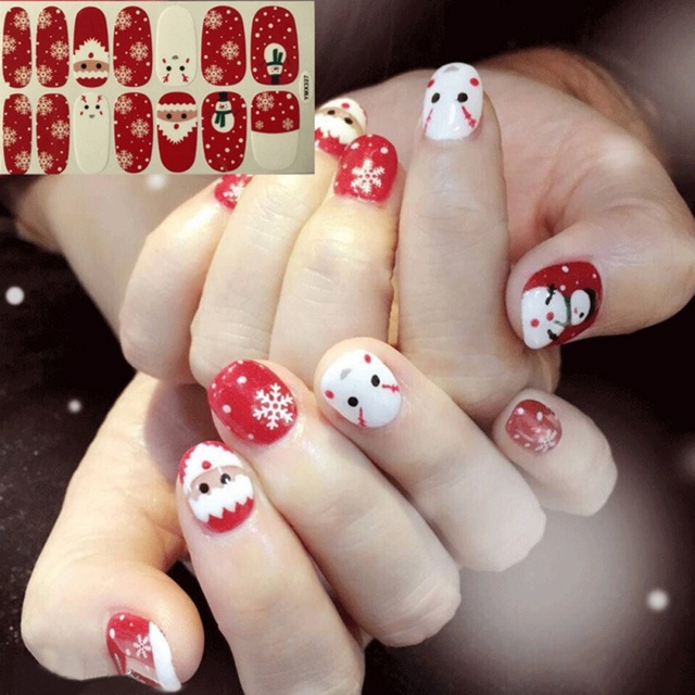 Party Diy Nail Art Nail Sticker For Christmas New Year Water Decal