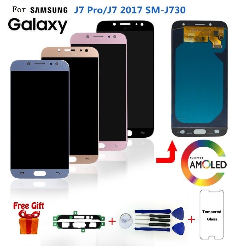 AMOLED pour SAMSUNG Galaxy J7 Pro J730 SM-J730F écran LCD remplacement pour Samsung J7 2017 730FM J730G J730GM écran LCD