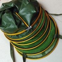 Aluminum Alloy Fishing Bait Fyke Net fishing net Universal Location Fish Cage holder With bag