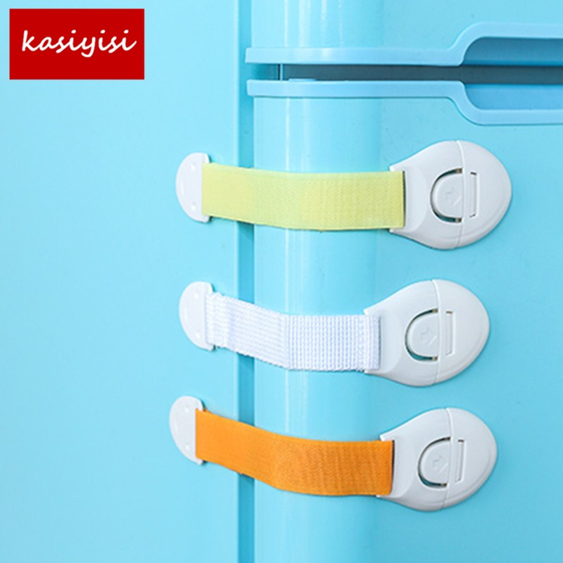 5Pcs/lot Multi Function Safety Drawer Lock Security Refrigerator Lock Plastic Toilet Lock Cabinet Lock Door Locker