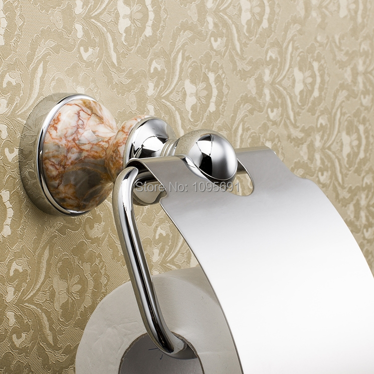 ФОТО  Excellent series Solid copper brass chrome Towel rack Paper towel paper holder Tissue box toilet
