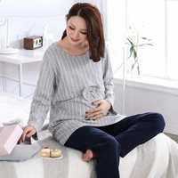 אימהי כותנה הבית תלבש החורף/גודל גדול טרקלין צפצף נשים בהריון ליולדות הלבשת סיעוד הנקת פיג 'מה