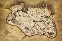 G155 Drovince Of Skyrim Game Map Poster Art Wall Pictures For Living Room In Canvas Fabric