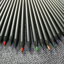 12-color high-quality black wood pencil sketch suit, 12 wooden colored pencils, stationery for children and adolescents
