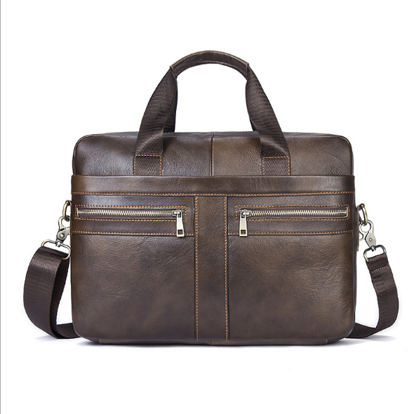 Men Casual Briefcase Business Shoulder Genuine Leather Messenger Bags Computer Laptop Handbag Men's Bag handbags Messenger Bag 2018 men casual briefcase bag genuine leather laptop bag shoulder messenger bags business computer handbag male bag brown 1117