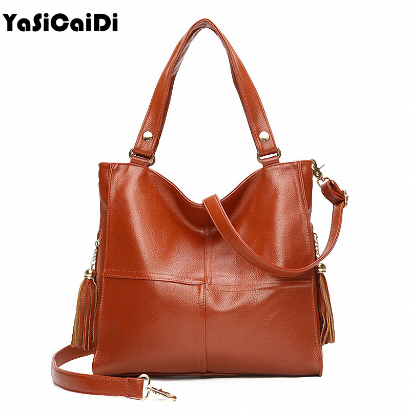 YASICAIDI Soft Leather Women Shoulde Bags