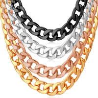Trendy Design Men Items High Quality 18K Real Gold Plated 7MM 50CM Chunky Link Chains Necklaces