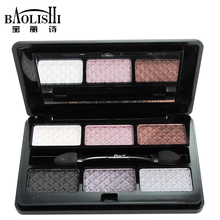 baolishi 6 color best glitter natural eyeshadow palette big bright matte naked smoky metallic eye shadow sexy queen brand makeup