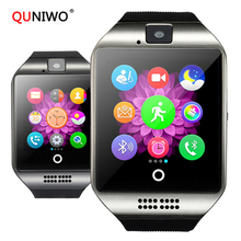 2019 New Bluetooth Smart Watch Q18 With Camera Facebook Whatsapp Twitter Sync SMS Smartwatch Support SIM TF Card For IOS Android