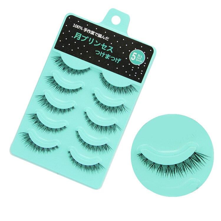 2019 Hot Sale 5 Pairs Fashion Natural Short Eyelashes Crossover Long Tail Nude Makeup Handmade False Eyelashes Extension Tools Soft And Light