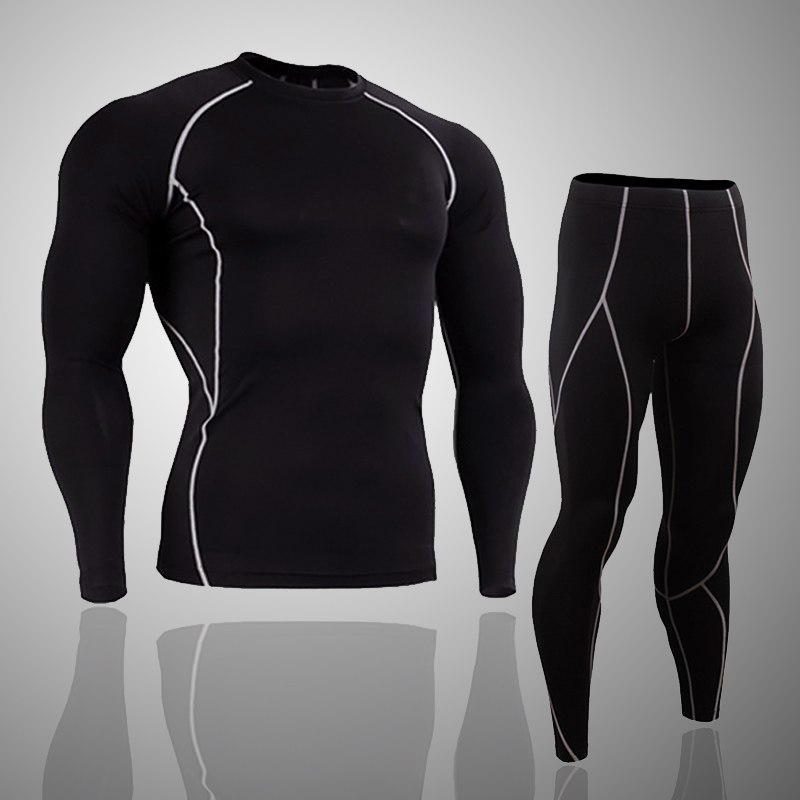 Sun Lorence 2//3//4//5 Pcs Mens Compression Leggings /& Shirts Base Layer Set Long Sleeve Jacket Suit