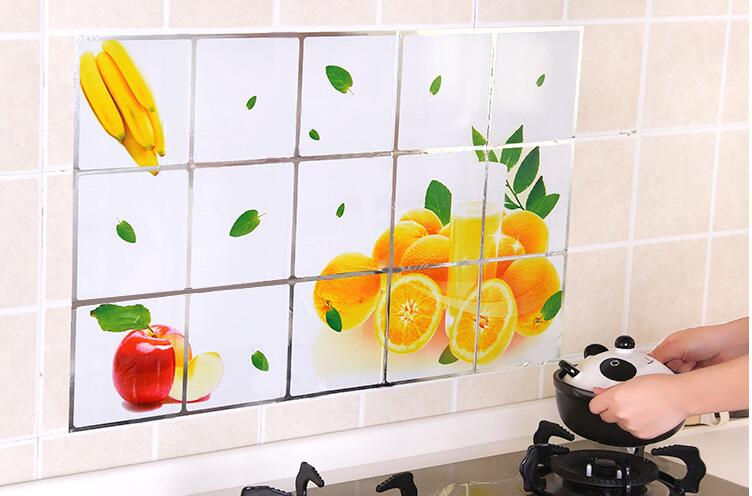 CC001 75*45cm Kitchen Wall Stickers Foil oil sticker Decal Home ...