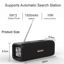 лучшая цена HOPESTAR T9 Wireless Bluetooth 4.2 Speaker 10W Portable Sound Box FM Digital Radio 3D Surround Stereo Support Handsfree TF AUX
