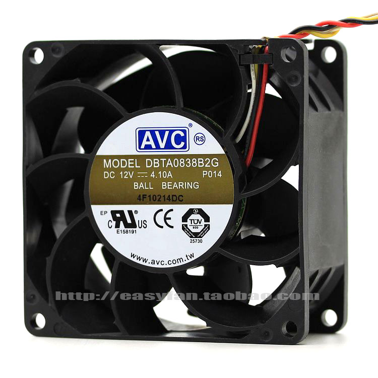 NEW AVC 12V 4.1A 8038 8cm Cooling fan DBTA0838B2G