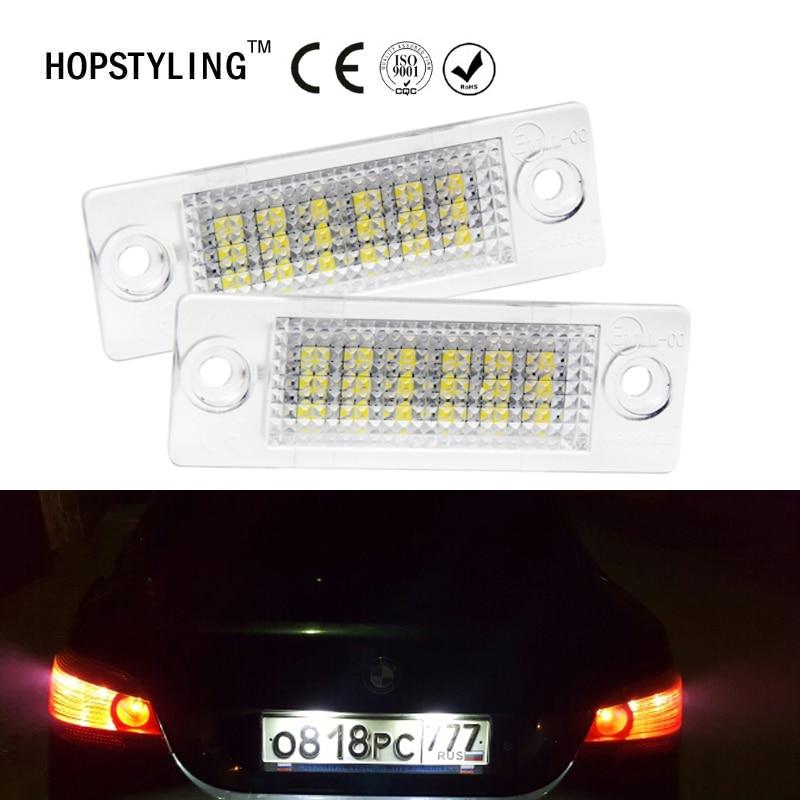 HOPSTYLING Cary-Styling 2Pcs 18SMD الخلفية LED رقم لوحة - أضواء السيارة