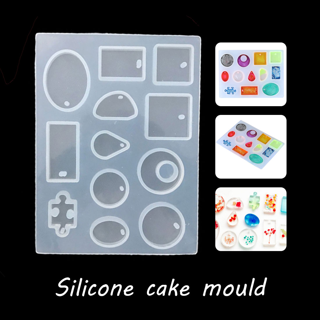 Fashion Scrapbooking Silicone Mould DIY Resin Decorative Craft Jewelry Making Mold Epoxy Resin Molds Cabochon Silicone Mold